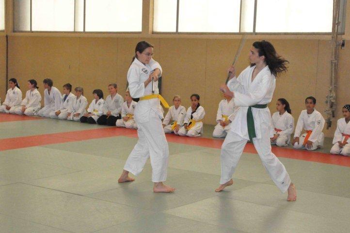 Entrainement enfant, défense contre baton