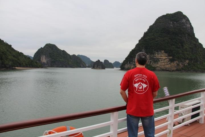 2014 Eric au Vietnam Baie d' Ha Long