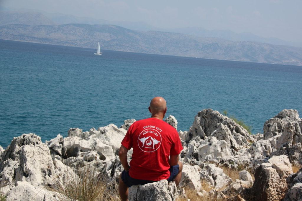2015 Jean Marie en Grèce à Corfou