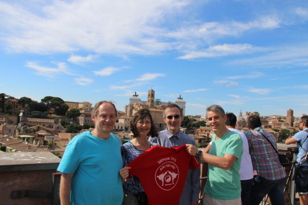 2016 Francois, Catherine, Christian, Eric en Italie à Rome et au Vatican